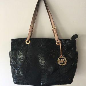 Michael Kors Snake Embossed Tote Bag